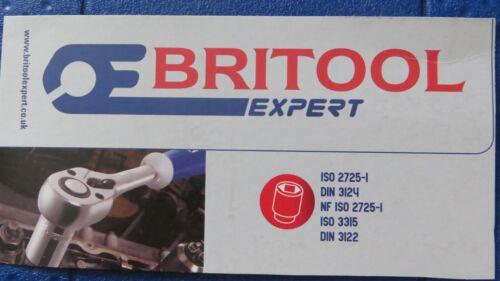 """BRITOOL T25 TORX BIT SET IN  SOCKET 1//2/"""" DRIVE CHROME VANADIUM STEEL"""