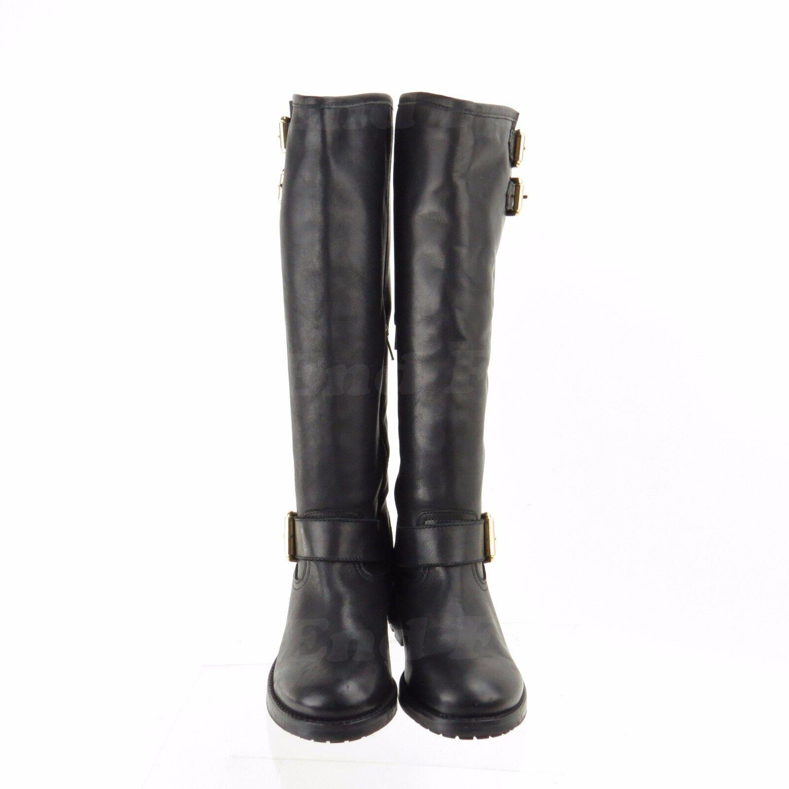 Kurt Geiger Magnum Women's Women's Women's shoes Black Leather Knee High Boots Sz EU 38 New  550 ee1512