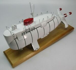 Details about Trieste II DSV-1 Submarine Submersible Desk Wood Model Small  New