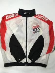 fe92691c9 Mens CASTROL White Vintage Castrol Racing Nylon Windbreaker Jacket ...