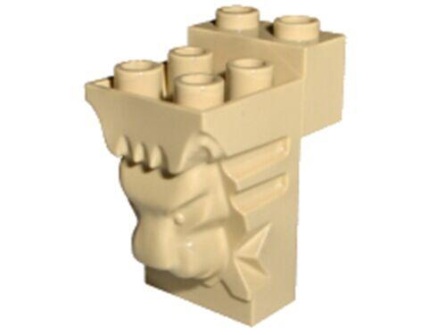 Lego Lion Head Statue Brick 2 x 3 x 3 Tan Brick lg79