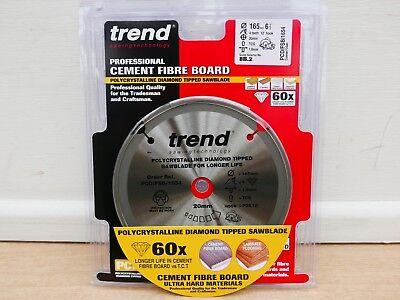 TREND 165dia x 4 teeth PCD FIBRE CEMENT DIAMOND SAW BLADE PCD//FSB//1654