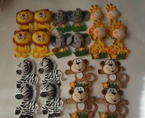 Decoracion De Baby Shower De Animales.Detalles De 20 Un Baby Shower Safari Animales De La Selva Decoracion Nino Nina Ver Titulo Original