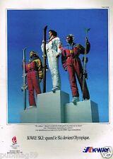 Publicité advertising 1991 Les Vetements de ski K Way