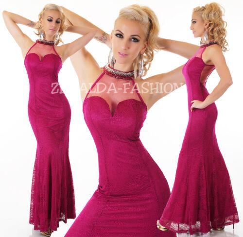 largo M XL S de de hermosa fiesta vestido sexy noche maxi encaje Fiesta L qgP1Yw