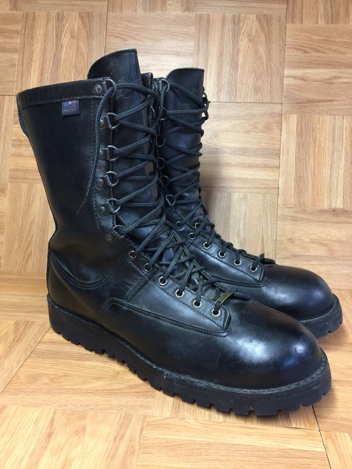RARE Danner Fort Lewis 300G Gore-Tex Leather Stiefel 13 Made In USA Steel Toe