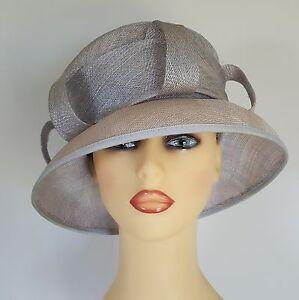 Image is loading Ladies-Formal-Hat-Wedding-Races-Grey-Silver-Blue d6c2cb99dd8