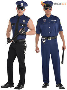 Adult mens police officer costume policeman new york cop fancy dress image is loading adult mens police officer costume policeman new york solutioingenieria Images