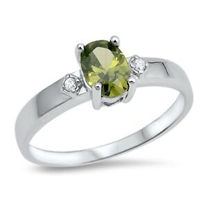 Round Simulated Peridot .925 Sterling Silver Toe Ring