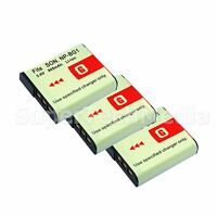 3 Battery For Sony Np-bg1 Fg1 Type Cybershot Dsc-h55 H70 H90 Hx5v Hx7v Hx9v