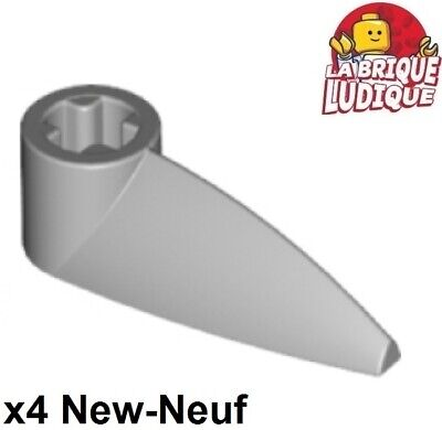 Lego 4x Bionicle 1x3 dent griffe Tooth gris//light bluish gray x346 NEUF