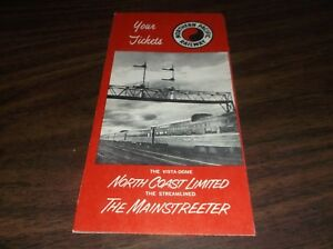 NOVEMBER-1961-NORTHERN-PACIFIC-NORTH-COAST-LIMITED-MAINSTREETER-TICKET-ENVELOPE