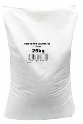 0,37€//1kg Streusand-Quarzkies 1-2 mm 25 kg Schnee Eis Streugut Wintrestreu