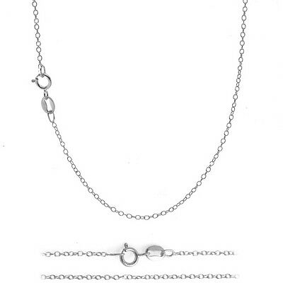 .925 Sterling Silver 1mm Italian 925 Cable Chain Necklace for Pendants ALL SIZES