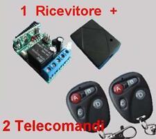 Ricevitore radio 1 Rele + 2 Trasmettitori E 433MHz telecomando cancelli serrande
