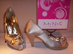 Scarpe-decolte-decollete-eleganti-MNG-donna-spuntate-plateau-tacchi-alti-raso-37