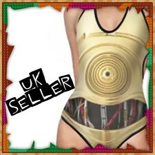 New C-3PO Star Wars Robot Backless Swimsuit Swimming Costume