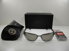 0f3f4263e7 item 5 RAY-BAN CHROMANCE POLARIZED SUNGLASSES RB3566CH 002 5J BLACK SILVER  MIRROR 65MM -RAY-BAN CHROMANCE POLARIZED SUNGLASSES RB3566CH 002 5J  BLACK SILVER ...