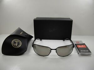 000abedc7d64d ... discount code for image is loading ray ban chromance polarized  sunglasses rb3566ch 002 5j 3422d e603b