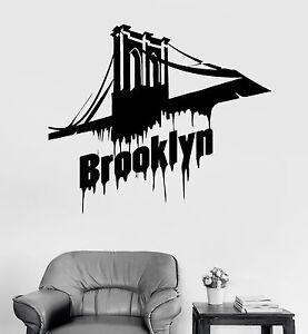 Image is loading Vinyl-Wall-Decal-Brooklyn-Bridge-New-York-Stickers-  sc 1 st  eBay & Vinyl Wall Decal Brooklyn Bridge New York Stickers Mural (ig3870) | eBay