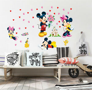 Image is loading Mickey-Minnie-Mouse-Wall-Stickers-Decal-Removable-Kids-  sc 1 st  eBay & Mickey Minnie Mouse Wall Stickers Decal Removable Kids Art Nursery ...