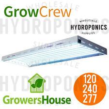 GrowersHouse Grow Crew HO T5 V2 4', 8 Bulb Fixture w 6500k Bulbs - 120/240/277v