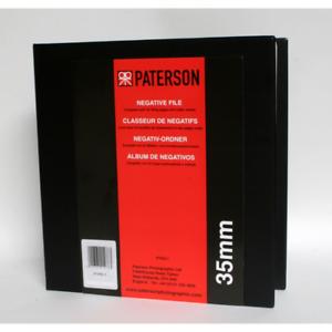 Paterson 35mm negativo archivo con 25 páginas y hojas de índice-PTP611