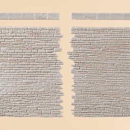 gris Auhagen 42649 h0//1:87//1:100//tt Murs de pierre avec la conclusion de pierres