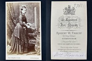 Thrupp, Birmingham, Madame Holomak Vintage cdv albumen print.Epouse de monsieu