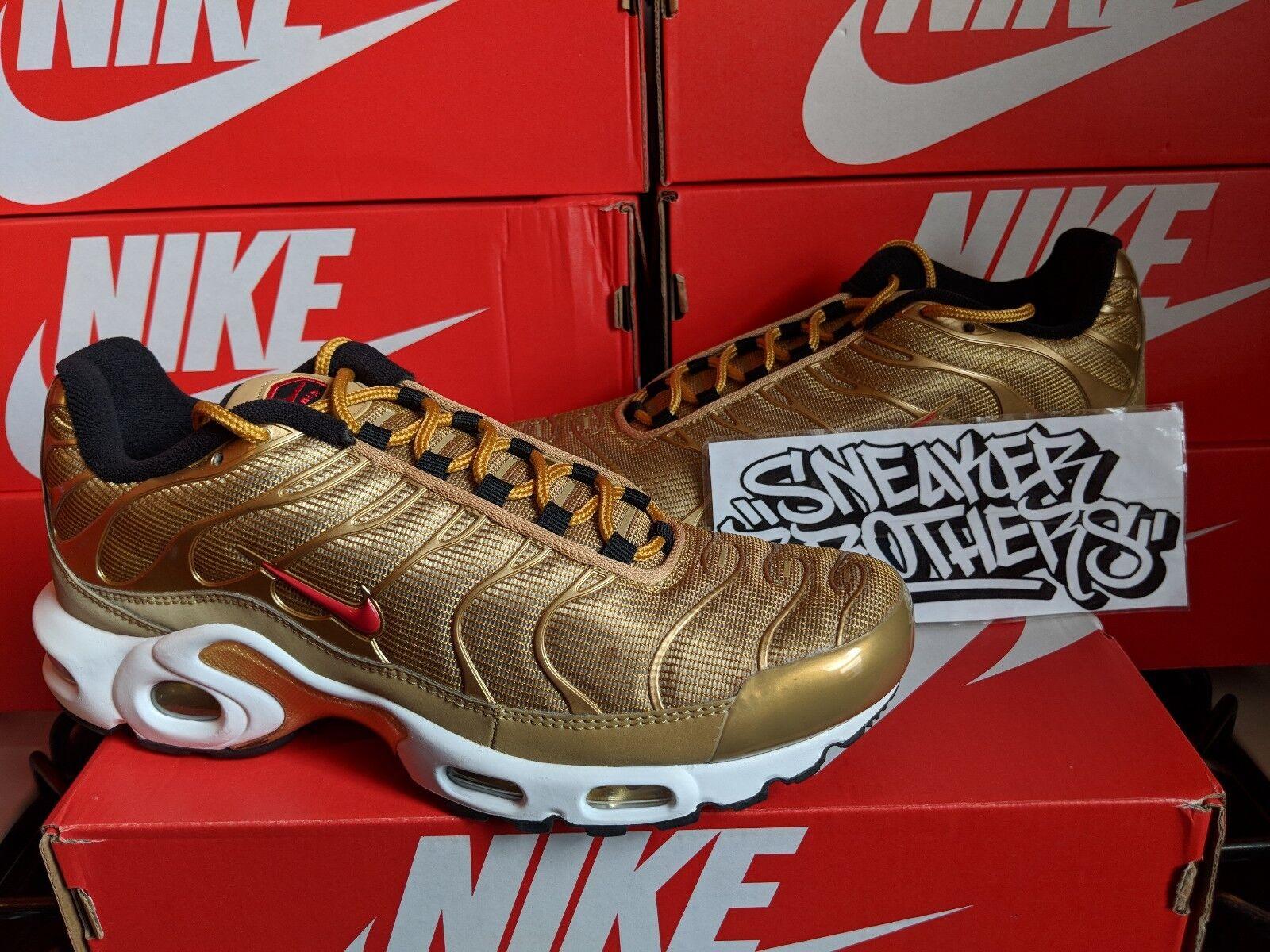 Nike air max e tn sintonizzati 1 qs 2018 metallico 903827-700 rosso oro university