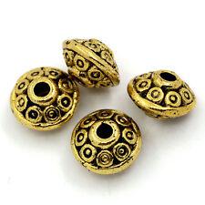 20x Metallperlen Spacer beads goldfarben Ufo - Form 6,5mm NEU