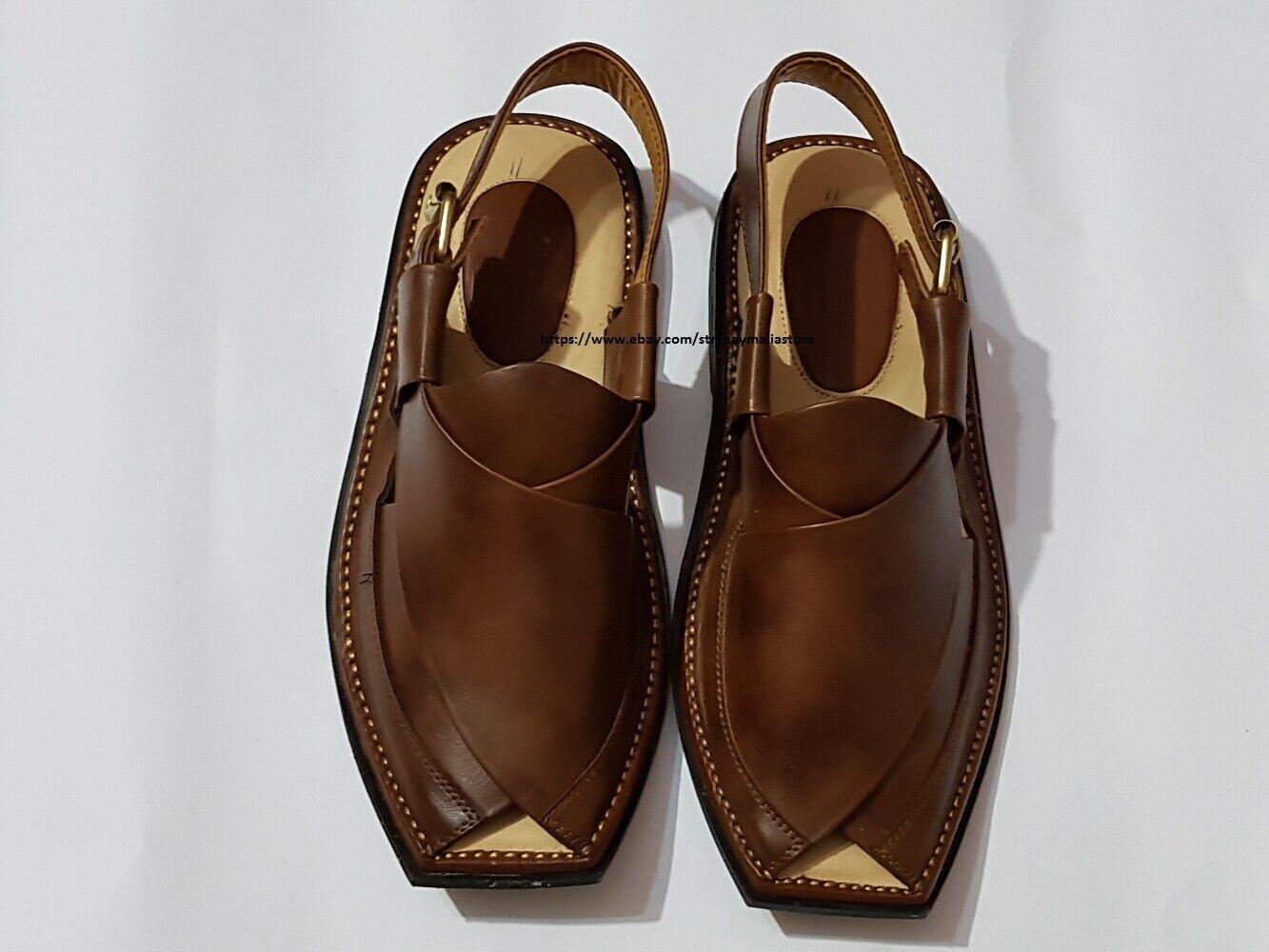 Peshawar Zalmi D-1 Pure Leather Charssada Chappal Sandal from Pakistan