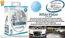 Kit 2 Lampade Philips H7 white Vision Ultra + 2 W5W Lampadine Fari Effetto 4300K