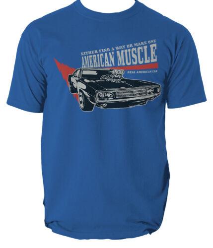 THE AMERICAN MUSCLE T shirt RETRO MUSTANG REAL CAR mens t-shirt tee S-3XL