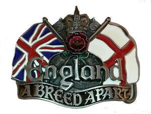 England Belt Buckle A Breed Apart St George Cross Union Jack Flag Biker Patriot