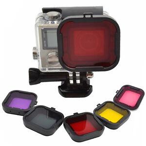 5-Couleurs-GoPro-plongee-sous-marine-Filtre-Lentille-capot-de-filtre-UV-pour-GoPros-HD-Series
