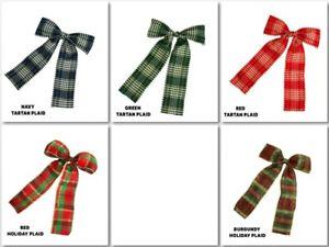 Pre-made-Bow-4-034-X6-034-Holiday-Ribbon-Bow-Choose-Design