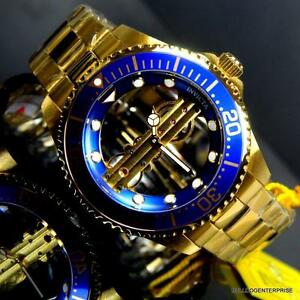Invicta-Pro-Diver-Ghost-Bridge-47mm-Gold-Plated-Steel-Mechanical-Blue-Watch-New