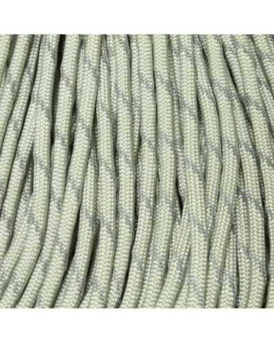 550 Paracord Silver w//3 Reflective Tracers 100 FT USA MADE /& SELLER