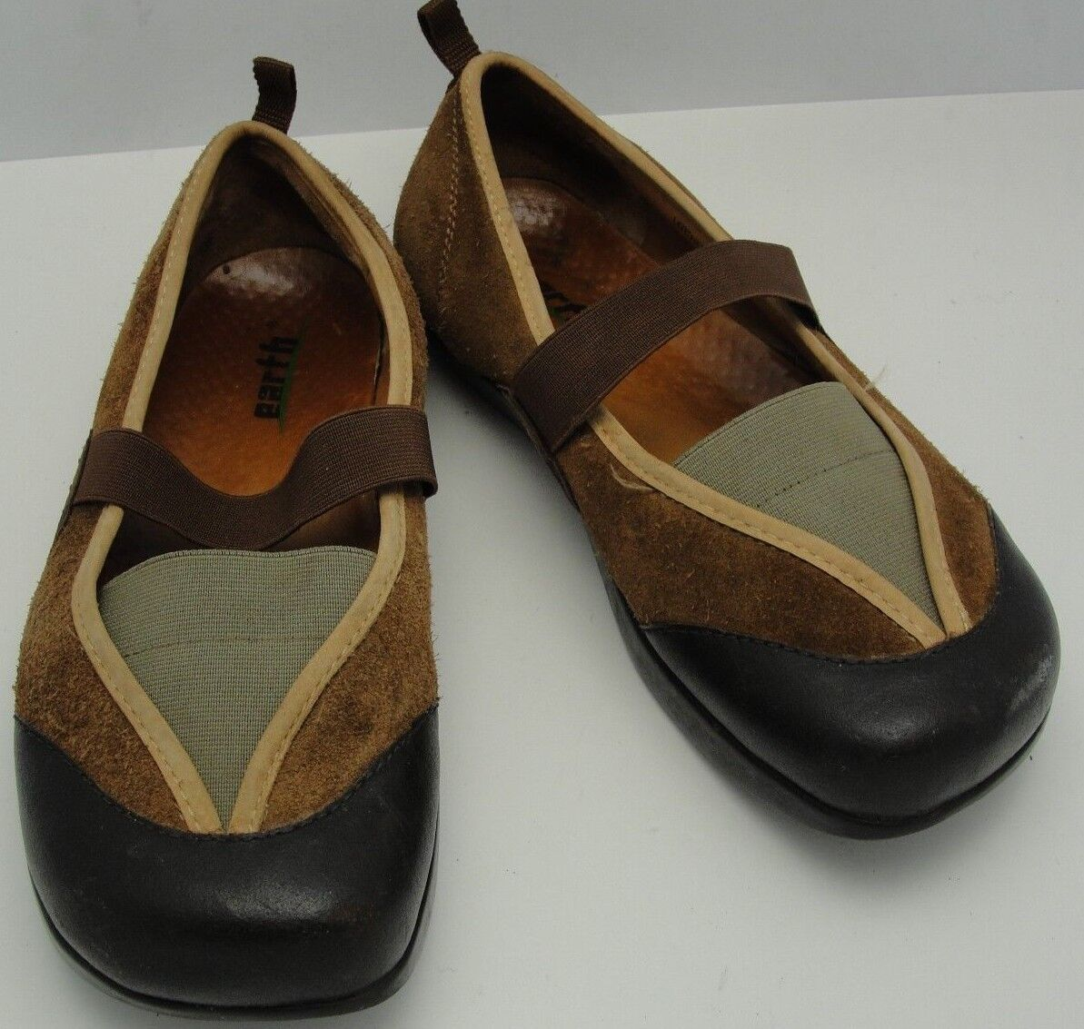 EARTH Intrique Moss Tan Tan Tan marrón Leather Mary Jane Walking Casual zapatos Talla 7.B  comprar marca