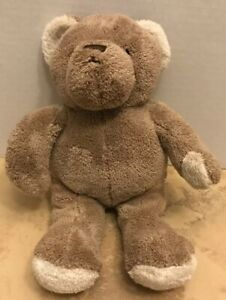 Brookstone-NAP-Tan-Cream-Cuddle-Teddy-Bear-Plush-Stuffed-Animal-Lovey-Toy-10