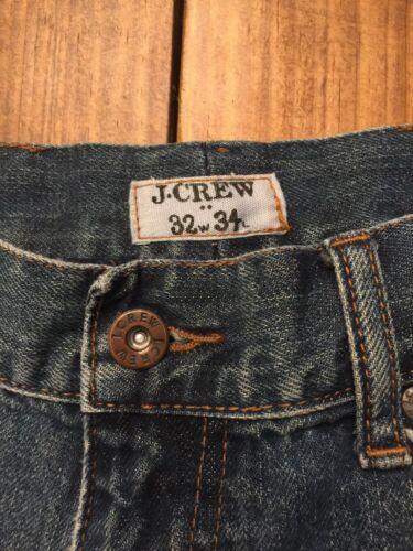 100 Slim Crew homme shirt homme coton Distressed T Jean 33l Straight pour 32w tE87HUwqx