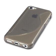 Apple iPhone 5C Case Smoke Black High Impact Resistant Flex Gel Anti Slip Cover