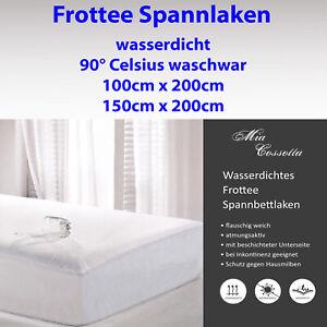 Inkontinenz Spannbettlaken Bettbezug Matratzenschoner waschbar 100x200 150x200 ;