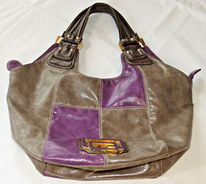 Guess-Hobo-purse-handbag-purple-grey-gold-hardware-GUC-shoulder-bag-travel