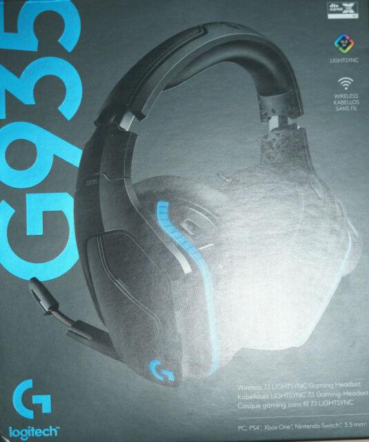 Logitech G935 Schwarz Gaming Headset (981-000744) Empfänger defekt- Ungeprüft