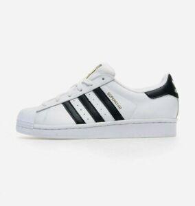 Adidas-Originals-Big-Kid-039-s-Superstar-Jr-NEW-AUTHENTIC-White-Black-C77154