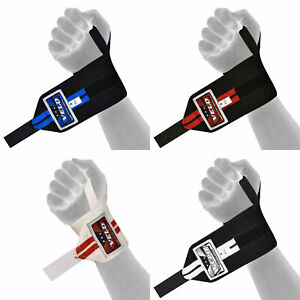Details about VELO Weight Lifting Wrist Power Wraps Supports Gym Training  Fist Straps Elastic