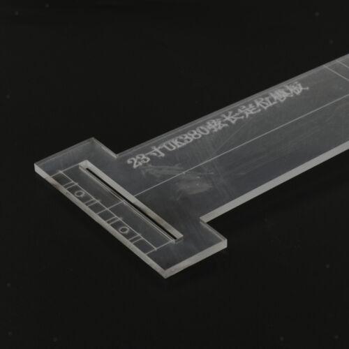 Transparente Gitarrengriffbrett-Brückenschablonen-Luthier-Werkzeug 23inch
