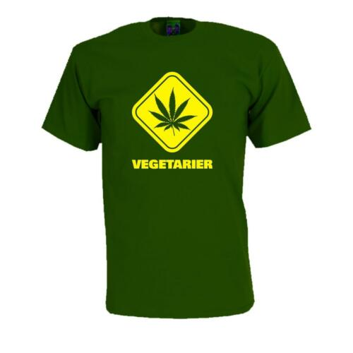 Fun T-Shirt Drôle Proverbes Shirt Amusant Humour Gag fs034 Végétarien hanfblatt